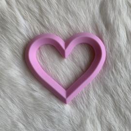 Hart met 2 gaten - baby roze