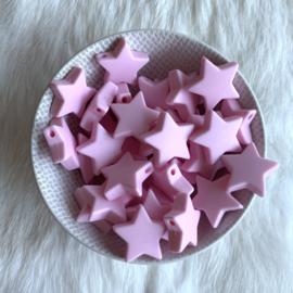 Ster M - zacht roze