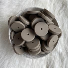 Coin bead 25mm - dark oat