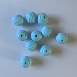 15mm striped - baby blue