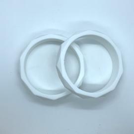 Armband siliconen - wit