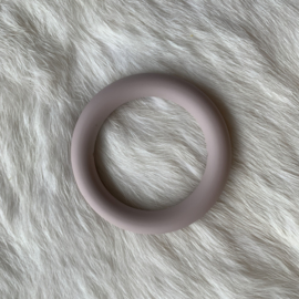 Grote siliconen ring - rosy brown
