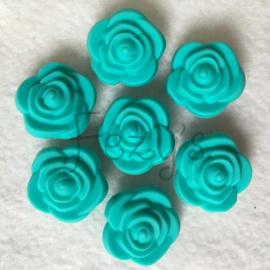 Kleine bloem -  turquoise