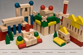 Fezy's Wooden blocks set XL (140 stk)