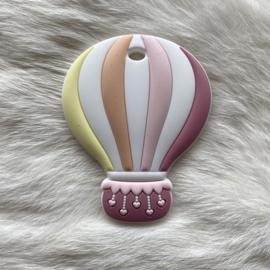 Air balloon teether - pastel pink