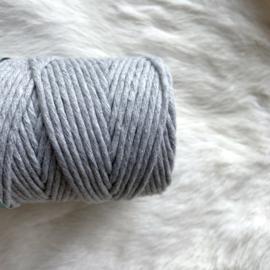 Macramé single twist - licht grijs