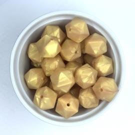 Icosahedron 17mm  - parelmoer goud
