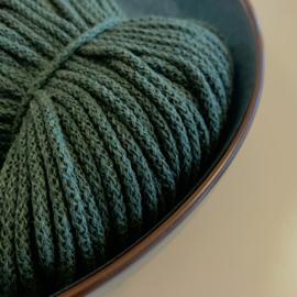 Macramé gevlochten koord - donker groen