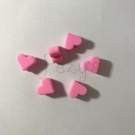 Klein hartje - roze