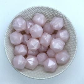 Icosahedron 17mm - parelmoer roze
