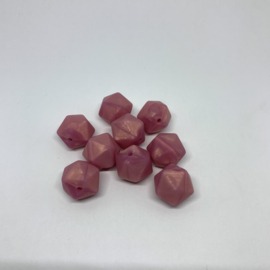 Icosahedron 17mm - rosé goud parelmoer
