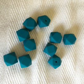 Kleine hexagon - donkercyaan