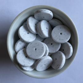 Munt kraal 25mm - wit dalmatiër
