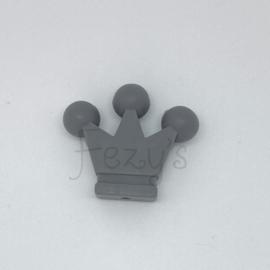 Kroontje kraal - donkerder grijs
