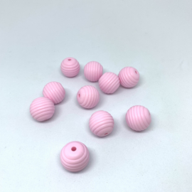 15mm striped - soft pink