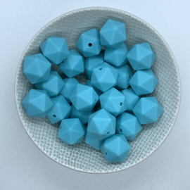 Kleine icosahedron - aquablauw