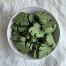 Monstera blad kraal - leger groen