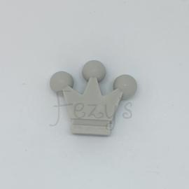 Kroontje kraal - licht grijs