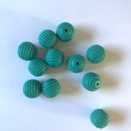 15mm striped - emerald