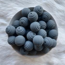 19mm geribbeld - donker grijs