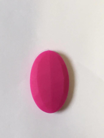 Big oval - fuchsia