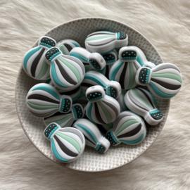 Air balloon bead - turquoise/mint