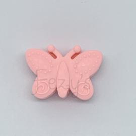 Vlinder kraal - licht roze