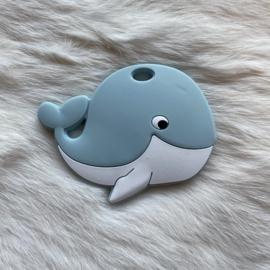 Blije walvis figuur - oud blauw