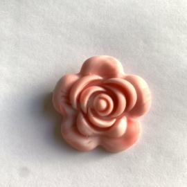 Grote bloem - marmer koraal/baby roze
