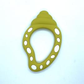 Slakkenhuis schelp - mosterd geel