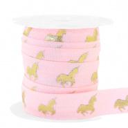 Ibiza lint - unicorn light pink/gold 25mm breed