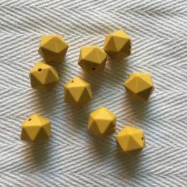 Icosahedron 17mm - mosterdgeel