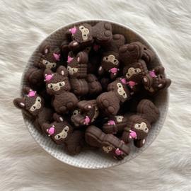 Happy llama bead - brown