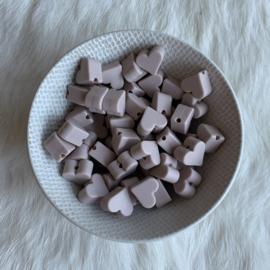 Klein hartje - rosy brown
