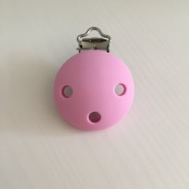 Pacifier clip silicone - baby pink