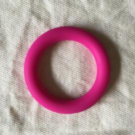 Grote siliconen ring - fuchsia