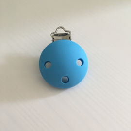 Pacifier clip silicone - blue