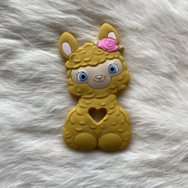 Happy llama bijtfiguur - mosterd