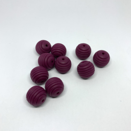15mm striped - wine red