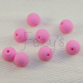 15mm striped - pink
