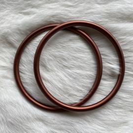 Slingringen maat XL - brons mat