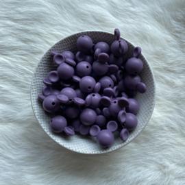 Mickey mouse bead - antique purple