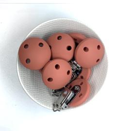 Speenclip siliconen - clay