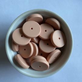 Coin bead 25mm - peach