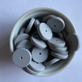Munt kraal 25mm - licht grijs