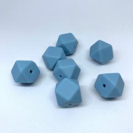Hexagon - ijsblauw