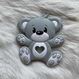 Bear teether - light grey