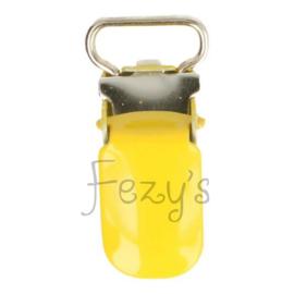 Speenclip metaal 10mm - geel