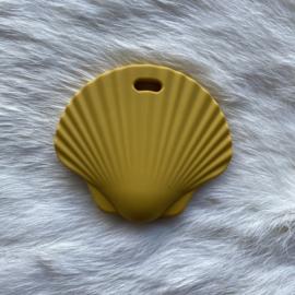 Sint jacobsschelp bijtfiguur - mosterd geel