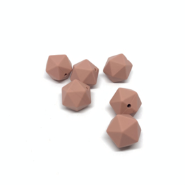 Icosahedron 17mm - Terra roze